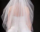 2 Layer Fingertip Length Veil