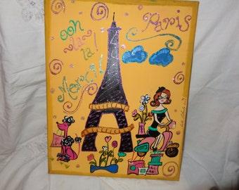 Bonjour Paris Painting
