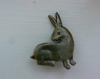 Brass Rabbit Pin