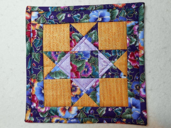 Mini Quilt for Going Away Gift - friends sign back for remembrance, friendship moving travel adventure retirement