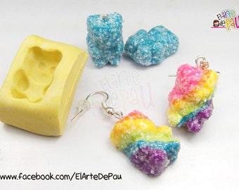 Gummies Bear Flexible silicone mold (20mm) / flexible panditas of rubber mold