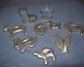 Vintage Set Aluminum Cookie Cutters