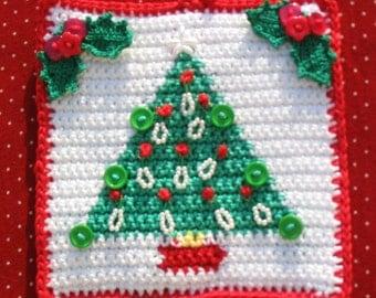 Christmas tree potholder