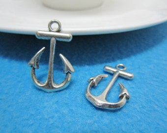 30pc antique sliver anchor charms pendant 23mmx16mm
