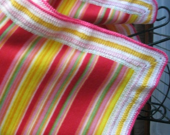 Brightly Colored Striped Blanket