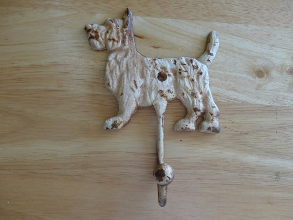 Cast Iron Shabby Chic Rustic Dog Coat Hook By Wilmothdesigns