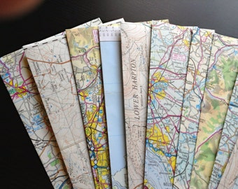 Vintage map and atlas envelopes (8)