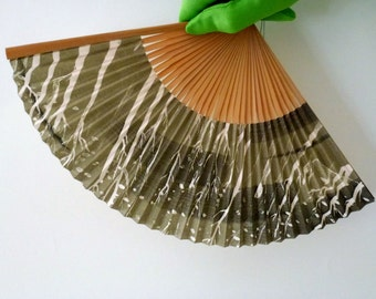 Bamboo and Painted Paper Fan