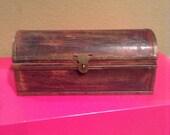 Antique Wooden Keepsake Box