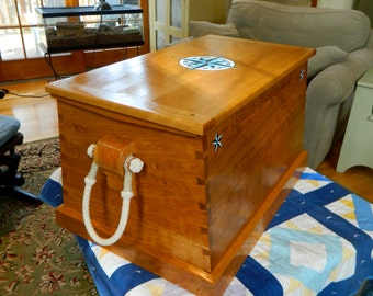 Solid Cherry Sea Chest.