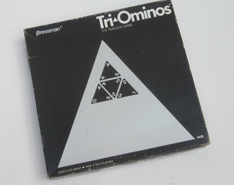 Vintage TRI-OMINOS   Pressman Triangle Game 1968