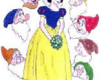 Snow White & The Seven Dwarfs Pattern  A12A - Photocopy