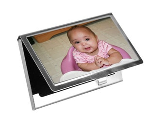 Custom, Personalized Photo Business Card Holder- Free Shipping