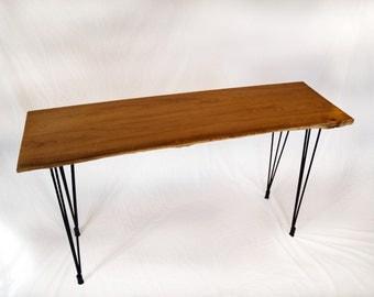liveedge locust wood console table
