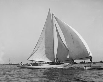 Rooster II Sloop at Put-in-Bay Lake Erie Regatta Historical 1904 Photo Reproduction 8x10