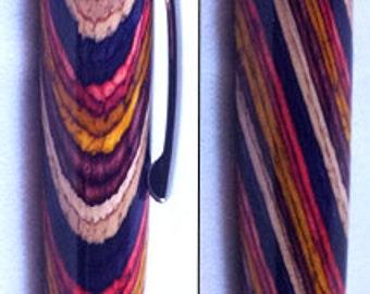 Executive Ballpoint Pen in Rainbow Veneer