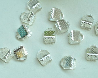 100pcs Silver Plated Fasteners Clasps 6mm XJ025