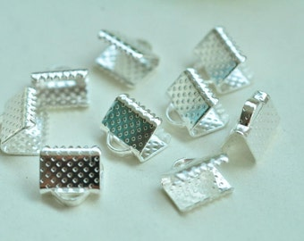80pcs Silver Plated Fasteners Clasps 8mm XJ026
