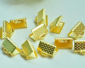 80pcs Gold Plated Fasteners Clasps 10mm XJ034