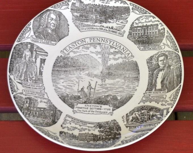 Vintage Collector Plate Easton Pennsylvania Decorative Plate Collectible Travel Souvenir Panchosporch