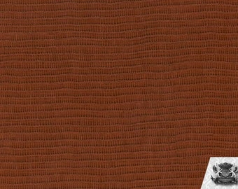 "Vinyl Baystreet Russet Brown Fake Leather Upholstery Fabric / 54"" Wide / Sold By the Yard"