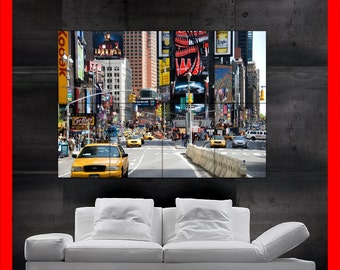 New york times square taxi cab  poster print wall art HH10222 S11
