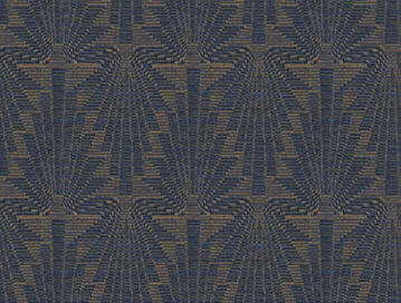 Kravet art deco style chenille upholstery fabric blue for Art deco style fabric