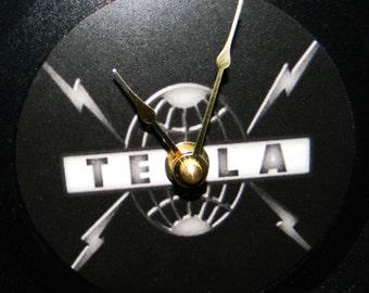 TESLA Inspired Vinyl Record Wall Clock