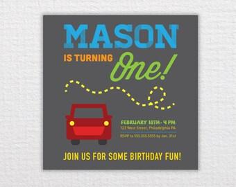 Custom Truck Birthday Invitation - PDF Printable