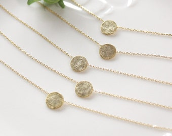 Bridesmaid gifts - Set of 4,5,6 - Round circle necklace, modern bridesmaid gift, modern wedding, eternity necklace