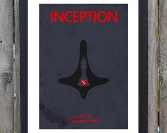 Inception minimalist movie print