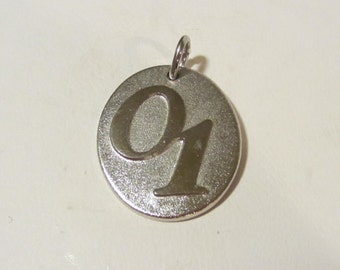 Viintage sterling silver Number One pendant