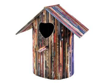 """Birdhouse  """"Amore"""" - Paper Sculpture"""