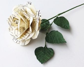 Sheet Music Paper Rose with Vintage Music Sheets