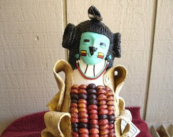 Gourd - Native American Hopi Corn Maiden Kachina