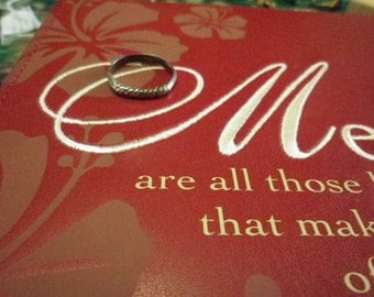 Sterling Silver Band 925 Ring  size 7 US and a size N (UK & Aus).