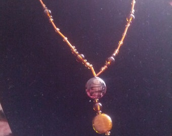Blass Bead Necklace in Shades of Brown and Amber
