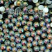 4mm SS16 1000 Pieces Clear AB Resin Flatback Rhinestones 14 Facets