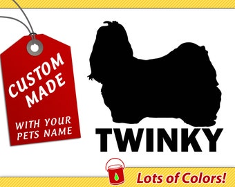 Personalized Maltese Breed Vinyl Decal with Your Dogs Name - Any Color - Custom Dog Sticker