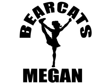 Personalized Cheerleading Decal - Custom Cheer Sticker for Cheerleaders, Mom and Family
