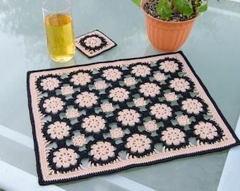Crochet Placemat Pattern: Byzantine Placemat & Coaster, PDF download