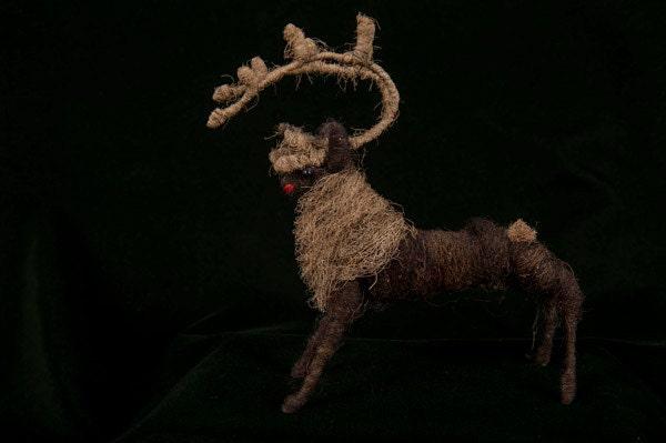 Folk Art Fiber Caribou