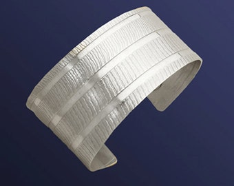 Fabric Embossed Cuff Bracelet