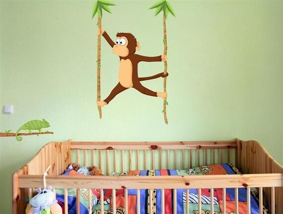 wandtattoo affe und cham leon dschungel kinderzimmer von. Black Bedroom Furniture Sets. Home Design Ideas
