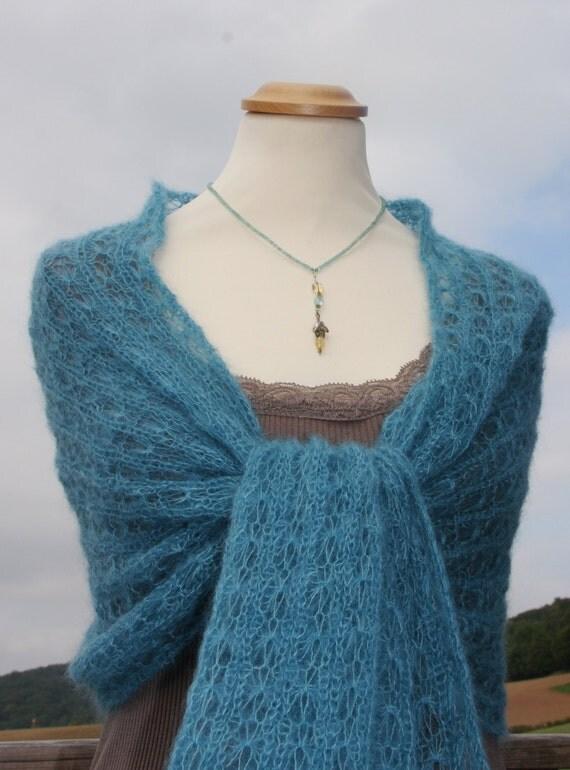 Knit shawl knit wrap mohair shawl bridal wrap bridal
