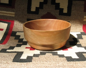Sycamore wood bowl - 9.5 inches wide and 5 inches high