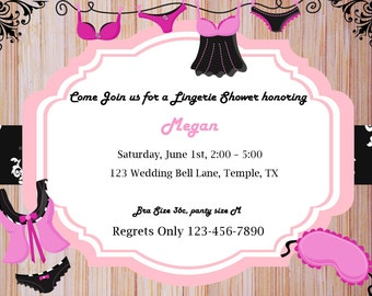 Lingerie Bachlorette bridal Shower Digital DIY