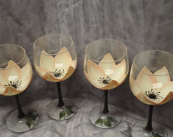 3-Dimension, Magnolia Wine glasses