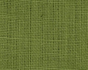 "47""- 48"" Inch Avocado Colored Burlap Roll (5 Yards)"