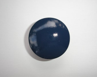Set of 6 Hand Painted Navy Blue Dresser Drawer Knobs